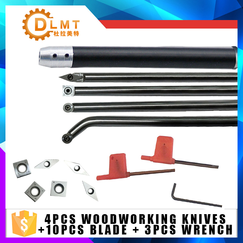 10PCS Carbide insert+4PCS round arbor 35 degree knives square round knives curved knives woodworking knives Includes 3 wrenches10PCS Carbide insert+4PCS round arbor 35 degree knives square round knives curved knives woodworking knives Includes 3 wrenches
