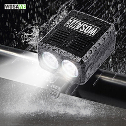 WOSAWE 自転車ライト 2400 ルーメン USB 充電式自転車のフロントライト MTB 自転車ライトズーム懐中電灯防水内蔵バッテリー