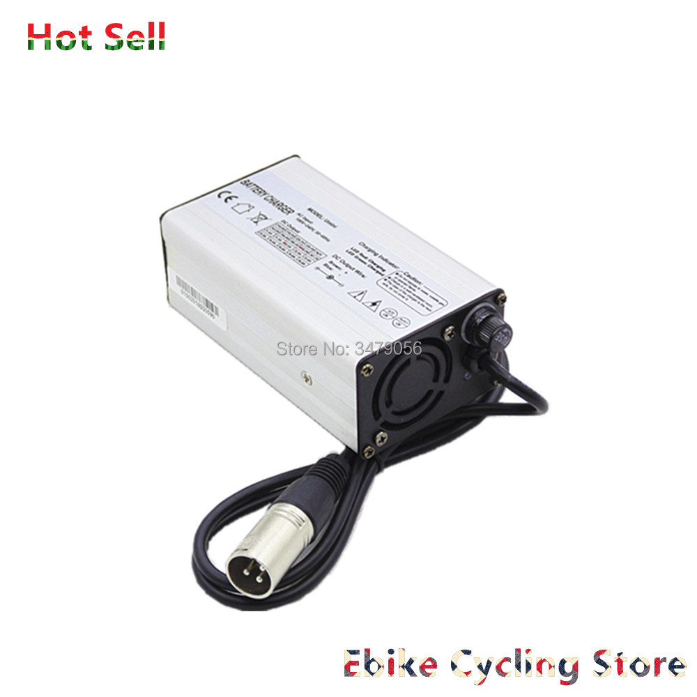 Free Shipping 24v 36v 48v 2A 3A lifepo4 Ebike battery charger with XLR DC RCA connector