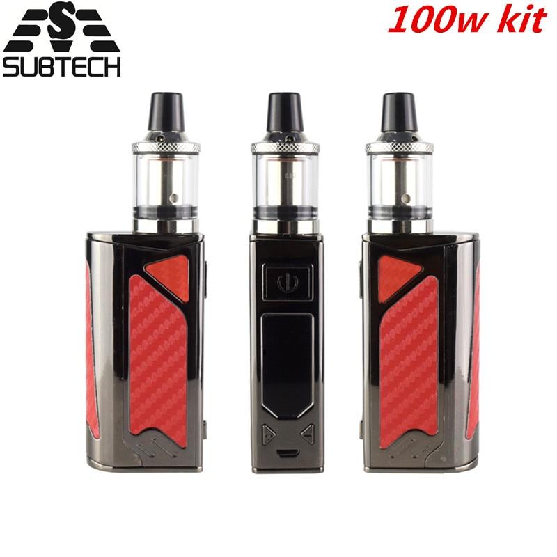 Vendita calda! 100 w box mod kit vapore enorme 2200 mah bulit-in batteria HA CONDOTTO Schermo di Fumo Vaper Sigaretta Elettronica