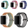hot Rainbow colors Woven Nylon Watch Band Fabric Wrist Strap For Apple Watch 38/42mm Women WatchBands