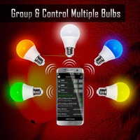 2017Bluetooth LED Light Bulb 4 5W Bluetooth Smart LED Dimmable Multicolored Color Changing LED Lights Works