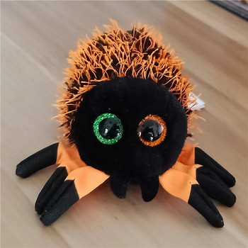"4"" 10cm Ty Beanie Boos Big Eyes Small Halloween spider Plush Toy Doll Kawaii Stuffed Animals Collection toys for children"