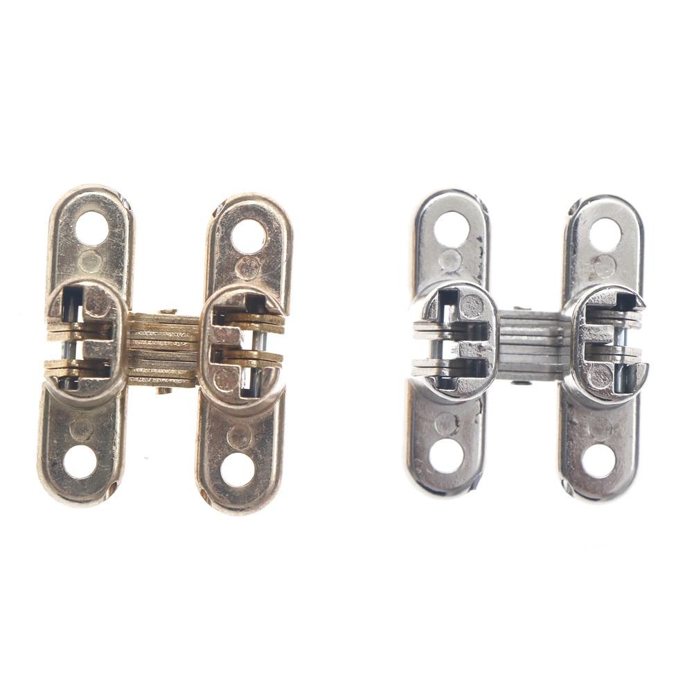 1pcs Invisible Concealed Cross Door Hinge Zinc alloy Hidden Hinges For Folding Door Furniture Hardware 41.8*22*30mm