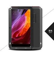 LOVE MEI Xiaomi Mi Mix Case Waterproof Shockproof Dirtproof Metal Aluminum Cover for Xiaomi Mix Bags + Tempered Glass