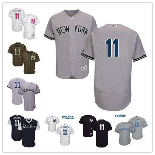 Для мужчин Нью-Йорк Янкиз Бретт Гарднер игроков выходные отца день матери белый серый Главная Прохладный База flex база плеер Джерси