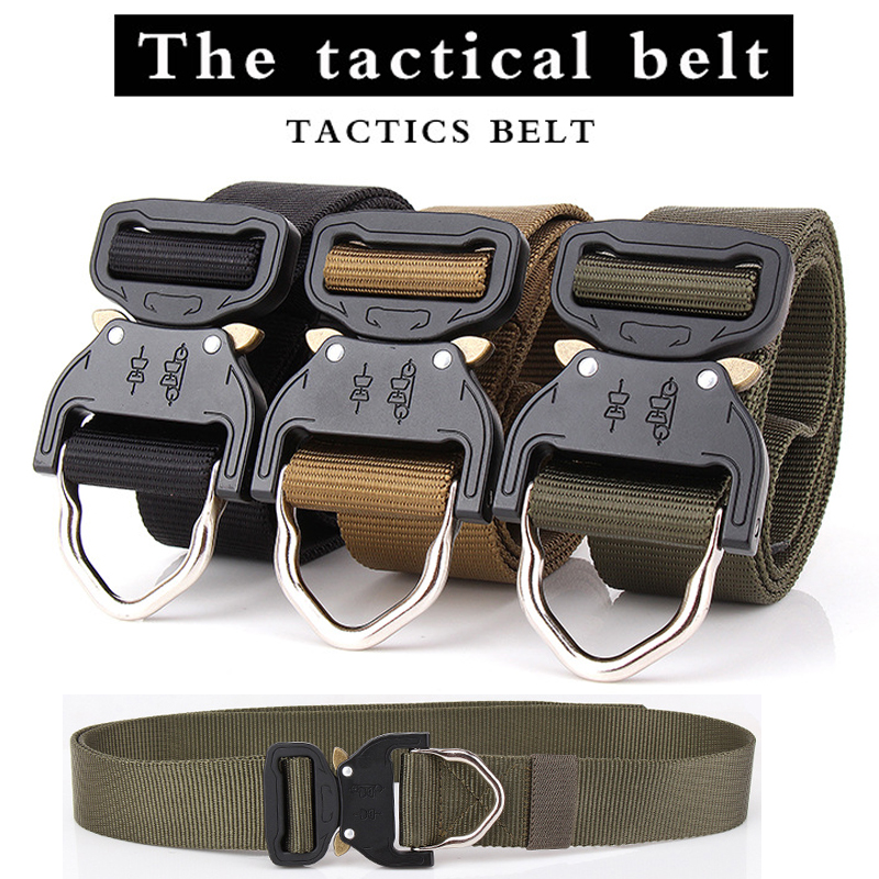 New 2019 Quick Release Metal Buckle Tactical Belt 1000D Oxford Quick To Dry Outdoor MOLLE Military SWAT Air Gun Paintball belt