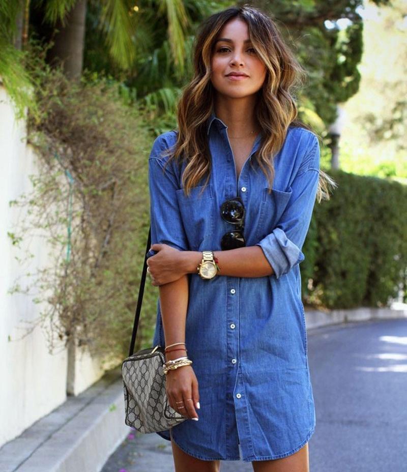 84affa0ca09 2016 Summer women denim sundress casual plus size tshirt Dress Mini Blue Jeans  Dress self portrait dress Free shipping-in Dresses from Women s Clothing on  ...