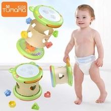 Tumama музыкальные игрушки 3 в 1, Многофункциональный ручной барабан, музыкальный инструмент, игрушка для детей, креативные Развивающие игрушки для малышей, игрушка Монтессори