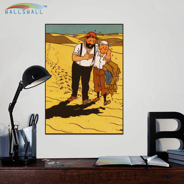 28 Designs The Adventures of Tintin Paper Painting Wall Pictures ...