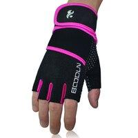Gym Gloves Men Women Body Building Half Finger Fitness Gloves An slip Weight Lifting Sports Training Fingerless Gloves 3 Colors