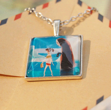 Retro silver Plated Spirited Away long necklaces & pendants for women handmade vintage cartoon characters jewelry accessories