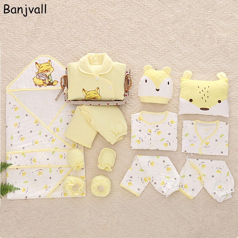 2016 Winter Newborn Baby Clothing Gift Set Thick Warm Infant Underwear Suits New Child 14 Pieces Set 100% Cotton 16 pieces set newborn baby clothing set underwear suits 100% cotton infant gift set full month baby sets for spring