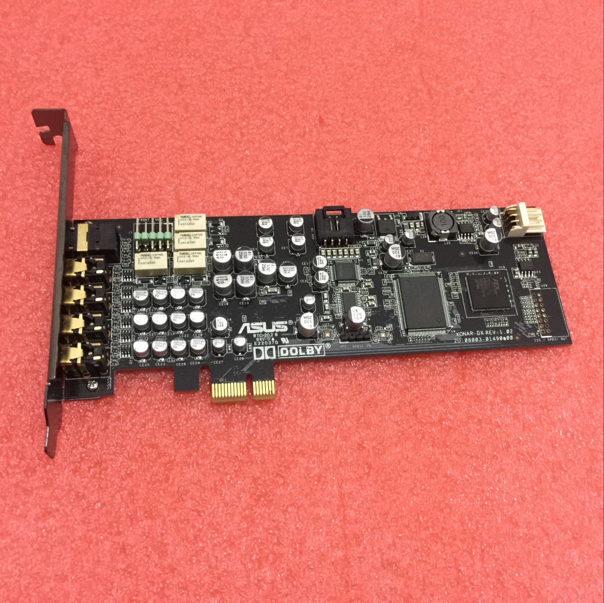 Asus Xonar DX Built-in 7.1 Sound Card PCI-E Half-High DTS Dolby Surround HIFI Sound Card 90%new