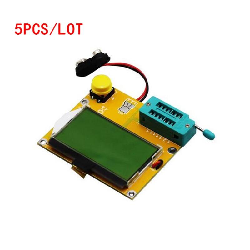 5 PCS/LOT LCR-T4 ESR Meter Transistor Tester Diode Triode Capacitance SCR Inductance LCD Backlight