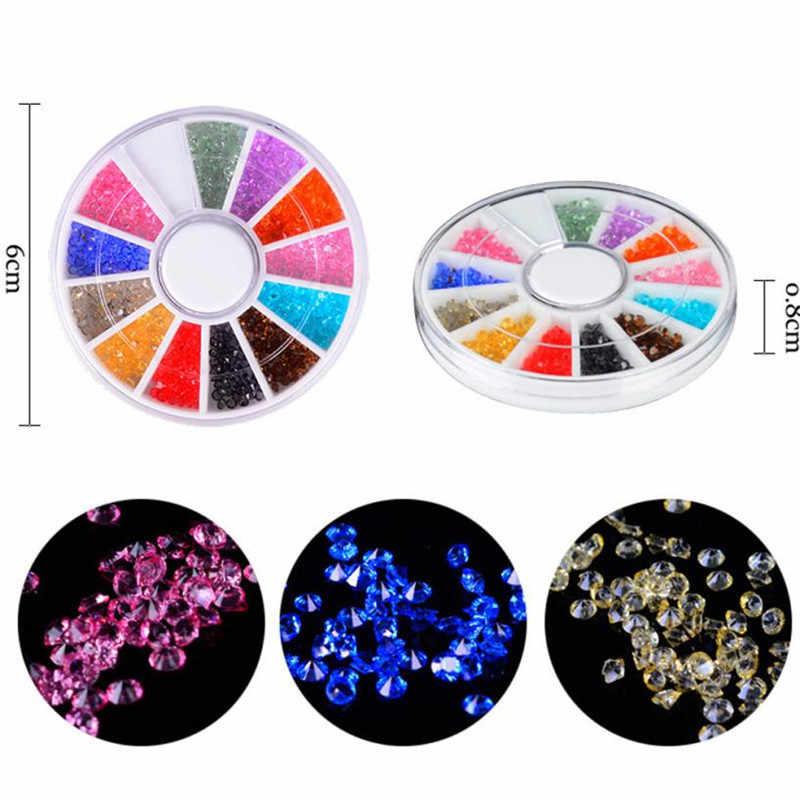 Украшения для ногтей кристалл песок мастер бусины DIY микро Алмазная вспышка дрель Flatback Блеск драгоценный камень 3D DIY Декор аксессуар maquiagem