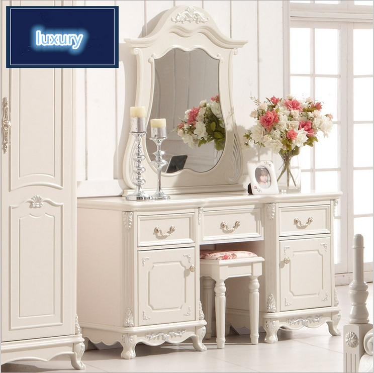 haut de gamme de mariage moderne coiffeuse meubles de maison blanc commodes avec table pour. Black Bedroom Furniture Sets. Home Design Ideas