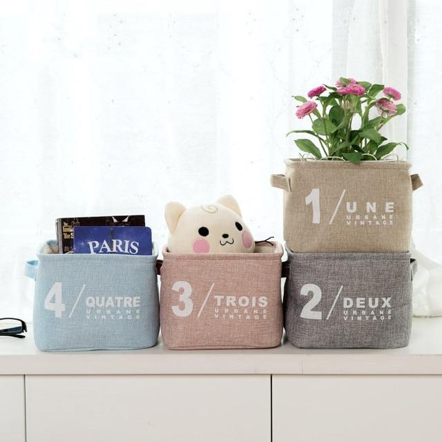 1pc cotton debris storage basket kitchen bathroom storage basket