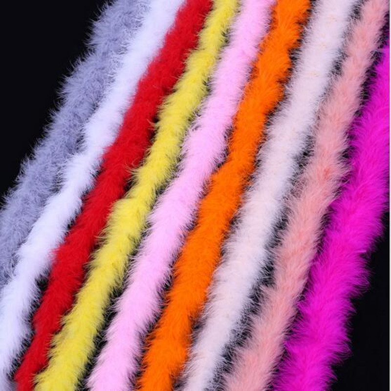 10 PCS /lot 2 meters long dyed marabou feather turkey feather boa for burlesque boas fancy dress party various color available