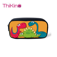 Thikin Cartoon Dinosaur Pen Bag for Boys Cute Pencil Bags Student Case Childrens Day Gift Storage Kids