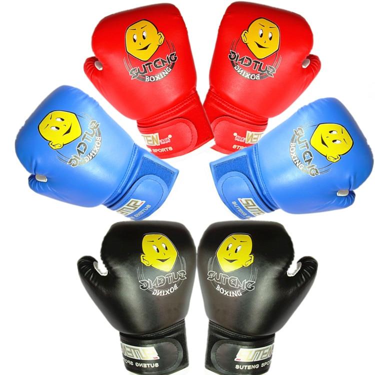 Suteng 2 до 10 лет дети Боксёрские перчатки для Sandbag Штамповка обучение мальчики/девочки дети Муай Тай Каратэ Санда весело играть DEO