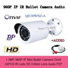 1.3MP HD Mini IP Camera 960P H.264 Video Audio CCTV Network Cameras Outdoor IP Cam P2P 24 IR Home Security Camera audio output