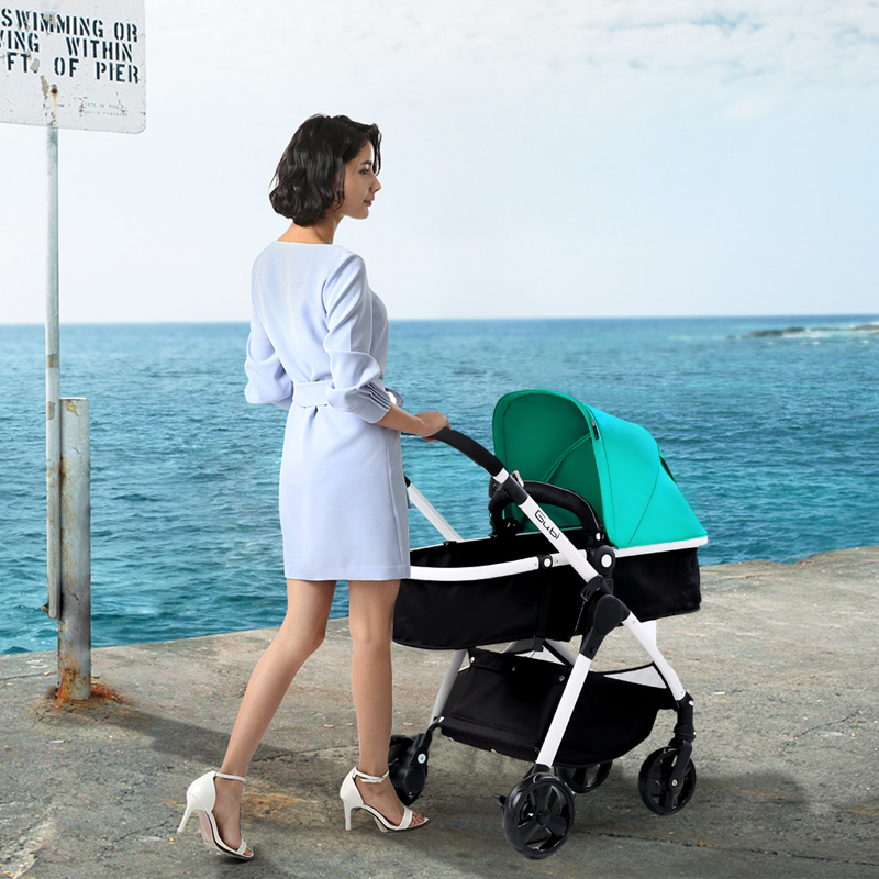 Gubi baby stroller Can Sit And Lie Suspension Baby Stroller Portable Folding pram fashion folding baby stroller stroller baby portable can sit