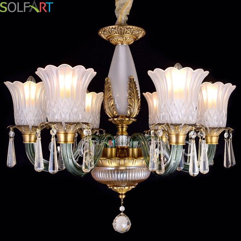 SOLFART Chandelier Lustre Industriel Chandeliers For Room Dining Crystal Chandeliers Lighting Fixtures Heracleum K9 Crystal 6305