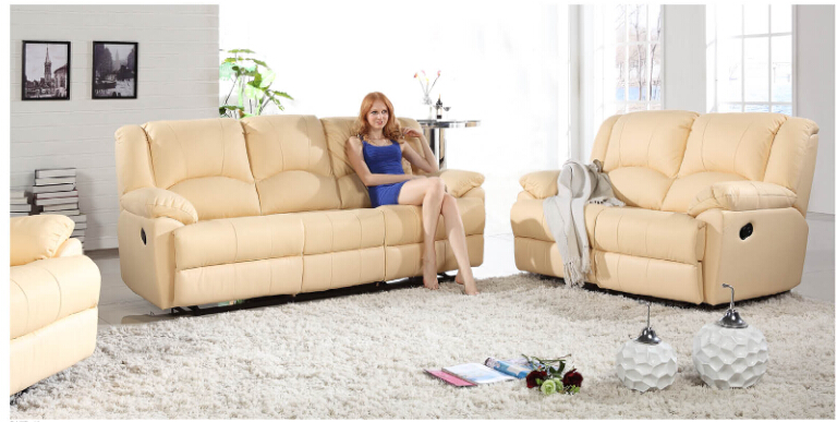 modern recliner leather sofa set with genuine leather manualchina mainland