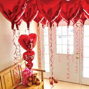 Image 5 - 結婚式の装飾風船大36インチ75センチハート箔風船バレンタインの日誕生日パーティーアニバーサリーデコレーション用品