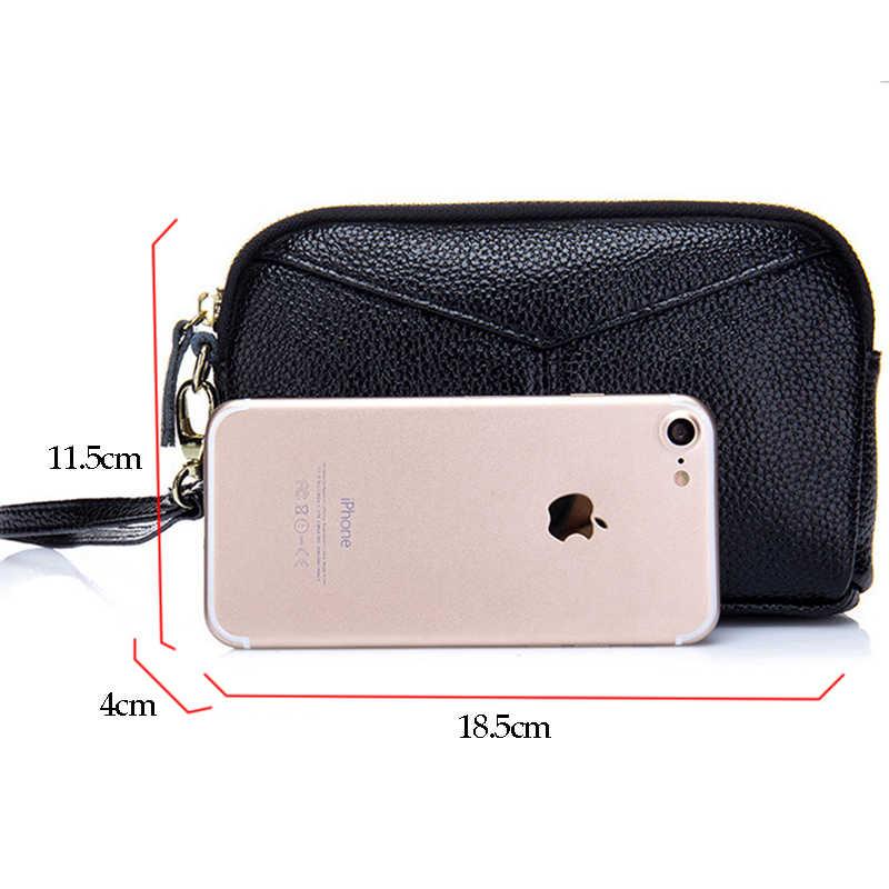 MOXI женская сумка из натуральной кожи, женская сумка-клатч из натуральной воловьей кожи на молнии, женская сумка на запястье для отдыха, модный стильный кошелек для телефона