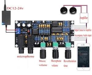 Image 3 - DC 12 В 24 В PT2399 Плата усилителя цифрового микрофона реверберация караоке OK ревербератор усилитель NE5532 предусилитель тональная плата