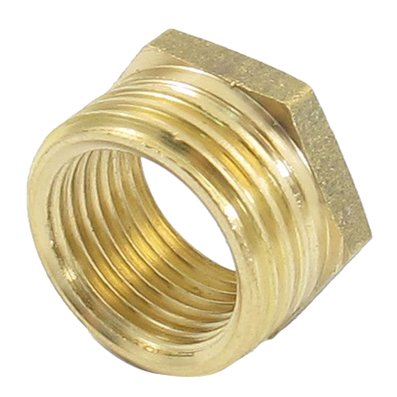 20mm Male to 16mm Female Brass Hex Reducing Bushing Adapter Pipe Fitting Gold
