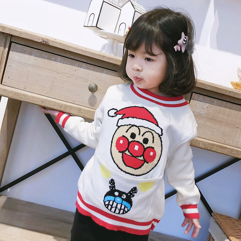 ANKRT 18 New winter children 39 s bread Superman Christmas sweater jacket Pullover knitted sweater for boys and girls 12M 6T in Sweaters from Mother amp Kids