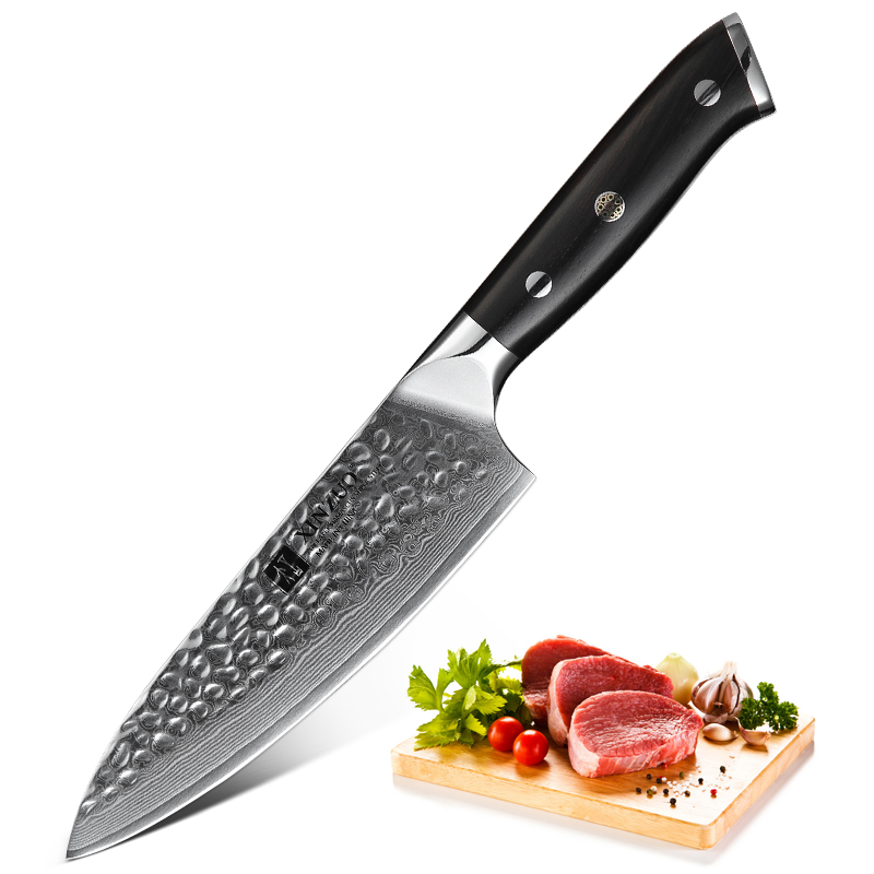 XINZUO 6 5 inch Chef Kitchen Knife 67 Layers Damascus Steel with Ebony Handle New Design