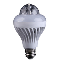 2 in 1 Rotating Disco RGB Bulb Crystal Ball Effect White & Color Changing LED Light Bulb for Party Club Bar or Home use