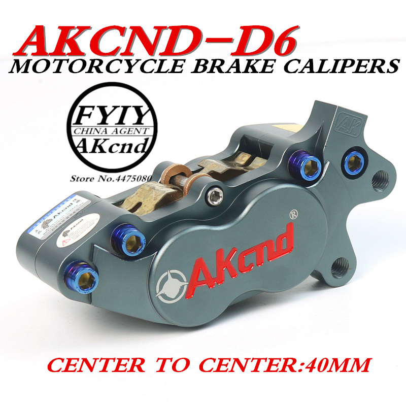 AKCND Universal CNC Motorcycle 40mm Brake Calipersmsx125 for yamaha vespa gts honda dio bws smax pcx nmax aerox155