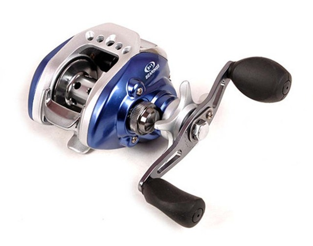 sword baitcasting fishing reels blue 8 1bb lv100 right hand version