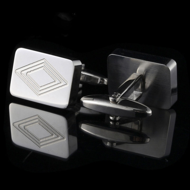 Custom High-End Stainless Steel Men's Cuff Links For Male Business Suits Shirt,New Cuff Links For Wedding Party Gift