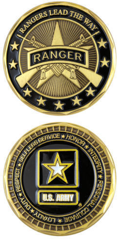High quality Custom coins low price U.S. Army Rangers Lead the Way Ranger Challenge Coin hot sales usa coins military