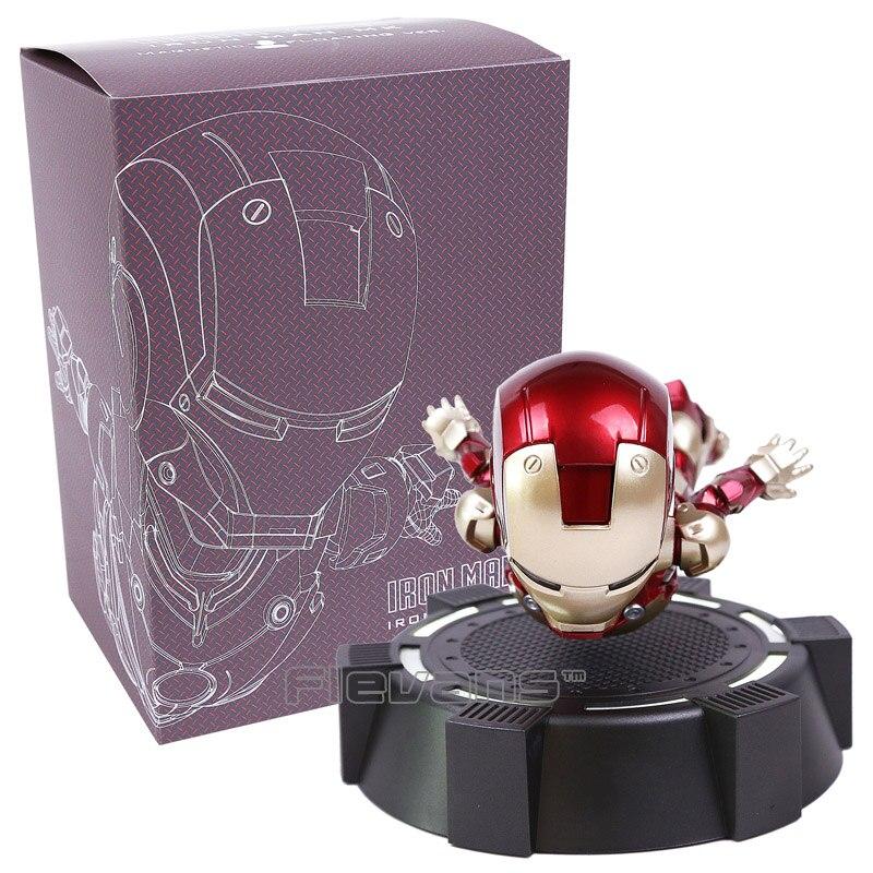 Fer homme MK magnétique flottant ver. Avec lumière LED fer homme figurine Collection jouet 3 couleurs