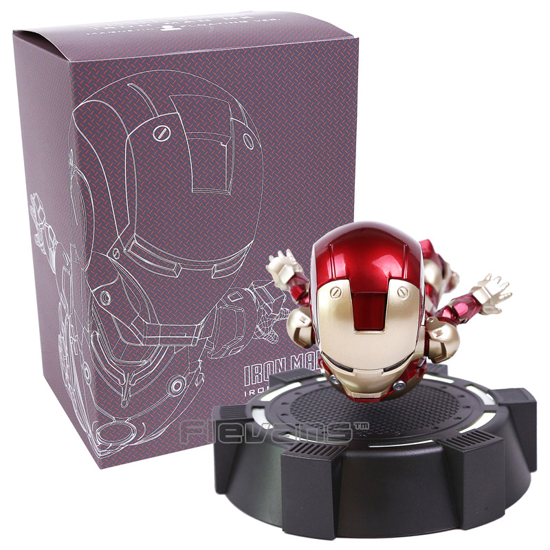 IRON MAN MK MAGNETIC FLOATING ver. with LED Light Iron Man Action Figure Collection Toy 3 Colors man kung mk cb50