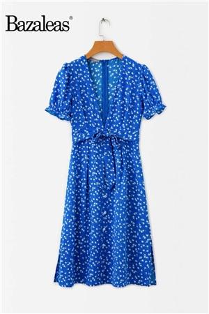 Blue Floral Print Women...