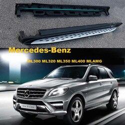 Schodki samochodowe korzystając z łączy z boku stopnie do wchodzenia dla Mercedes Benz ML300 ML320 ML350 ML400 2012 2017 wysokiej marka jakości nowy listwy nerf w Ochronne listwy boczne od Samochody i motocykle na