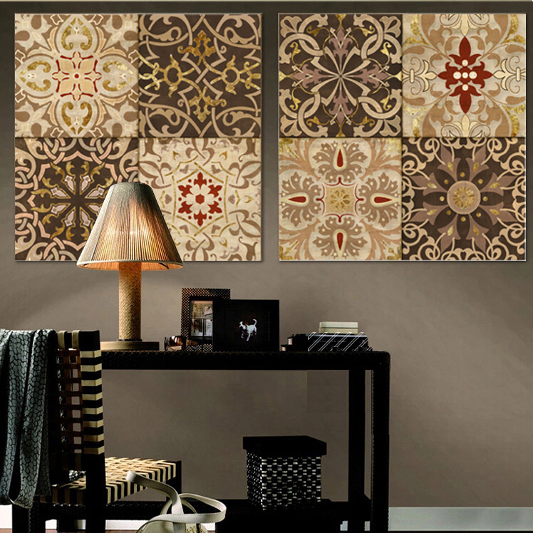 2015 middle east nation retro decorative pattern canvas for Decor nation
