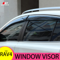Smoke Window Visor cover trim Vent Shade Rain/Sun/Wind Guard Car Styling For Toyota RAV4 2013-2016 2017 Awnings Shelters Parts