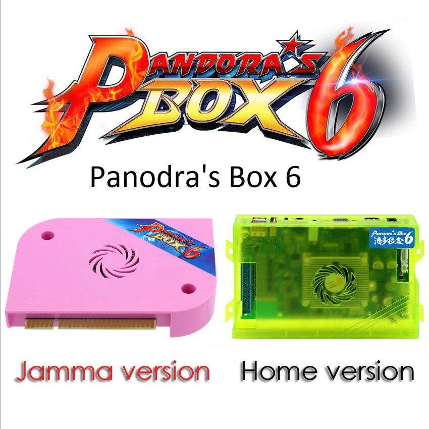 Caixa de Pandora originais 6 1300 em 1 Jamma/home Versão placa PCB pode adicionar 3000 jogos HDMI/VGA /CGA para LED/CRT Gabinete Máquina de Arcade