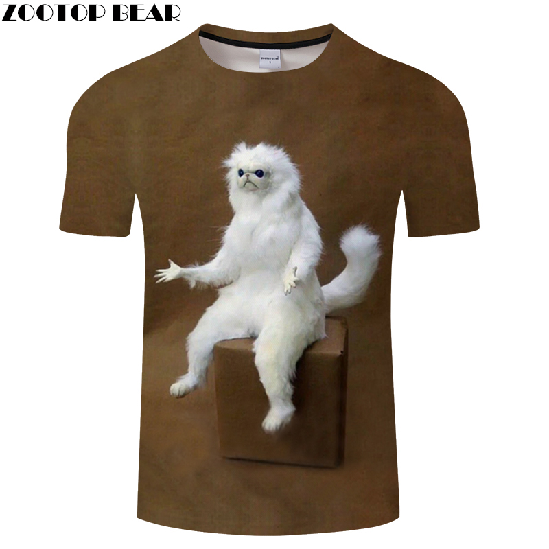 White Funny Animal Mens T-shirts 3D Printing T shirt Tops Fashion Tees 2018 for Summer Drop Ship ZOOTOP BEAR