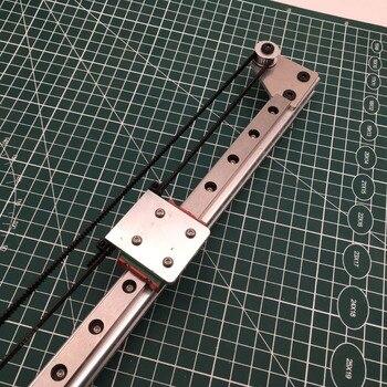 1 set nema17 모터 x 축 선형 모션 가이드 키트 3d 프린터/cnc 빌드 용 모든 금속 mgn12h 선형 기계 키트