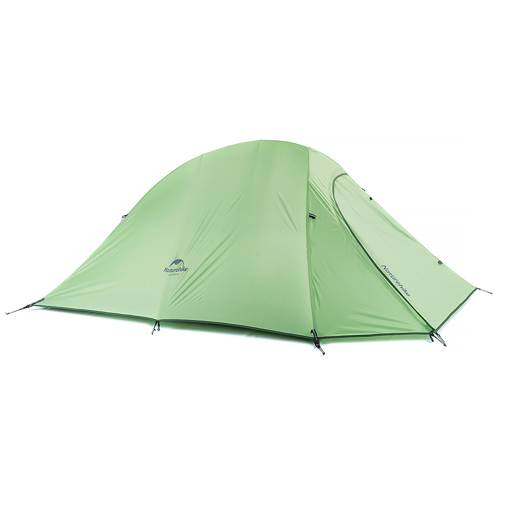 professional double bunk 20D coated silicon seasons ultralight camping outdoor tent weighs only 1.24 kg